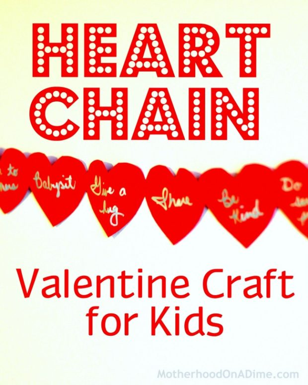 Heart Chain Valentine Craft for kids