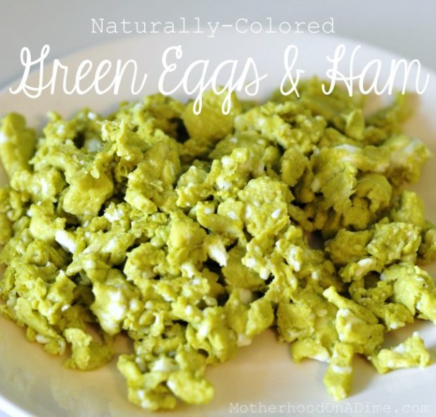 Dr. Seuss Activities:  Natural Green Eggs & Ham Recipe