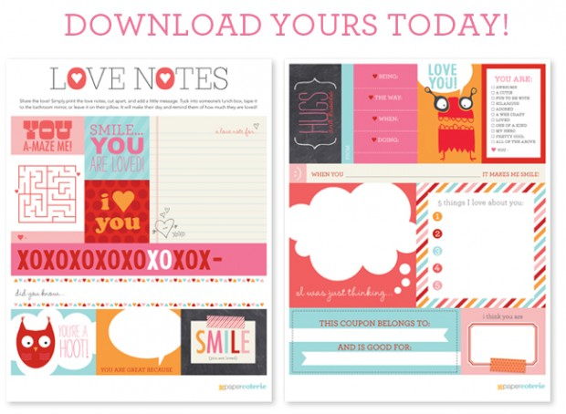 paper coterie free printable love notes