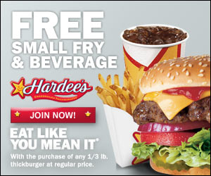 picture about Hardee's Printable Coupons called Hardees Printable Coupon - Children Functions Preserving Monetary