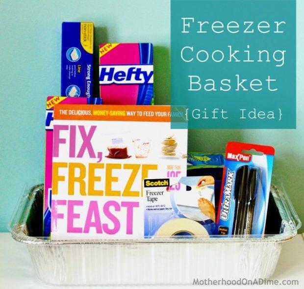 Freezer Cooking Basket Gift Idea
