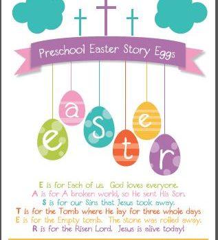 FREE Printable:  Christian Easter Story Egg Poem {Adapted for Preschool}