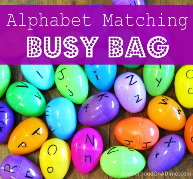 alphabet matching busy bag