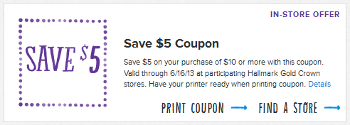 image about Hallmark Printable Coupons known as Hallmark Coupon: Help save $5 off $10 - Youngsters Actions Preserving