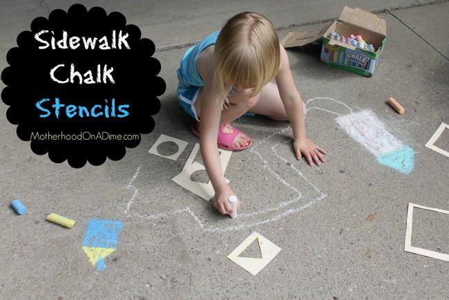 sidewalk chalk stencils