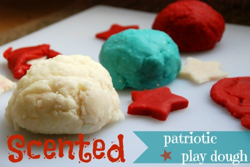 Scented Patriotic Play Dough