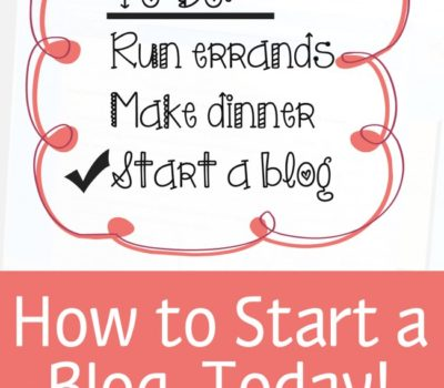 How to Start a Mom, Food, Homeschool, Faith, Business, or Any Kind of Blog Today!!