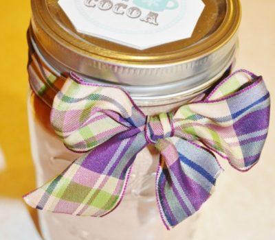 Frugal Gift Ideas:  DIY Hot Cocoa in a Jar