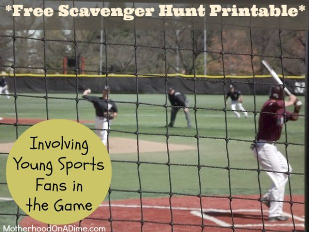 Involving Your Sports Fans in the Game. baseball scavenger hunt