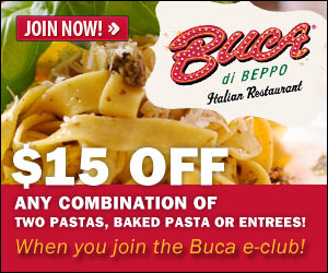 photo about Buca Di Beppo Coupons Printable identify Buca di Beppo: $15 Off Coupon - Small children Actions Conserving