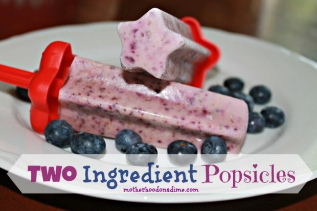 Easy Healthy Popsicle Recipe with Two ingredients