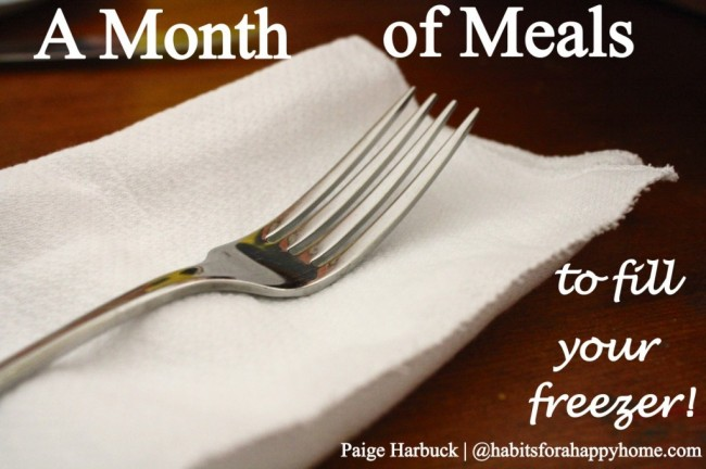 once a month meals for your freezer
