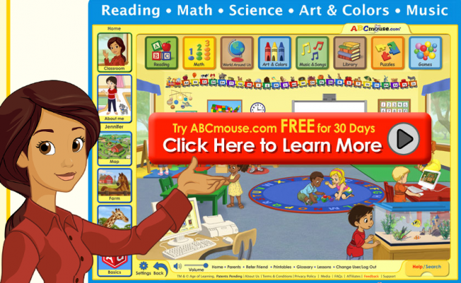 ABCmouse com: FREE 30 Day Trial (Pre/K Online Interactive