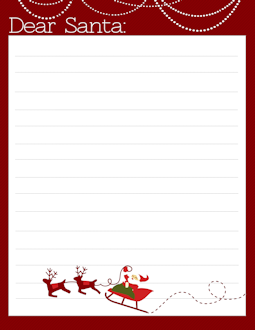 photograph relating to Printable Santa Stationary named santa stationary template -