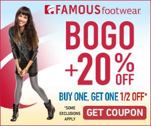 Famous Footwear Bogo 20 Off