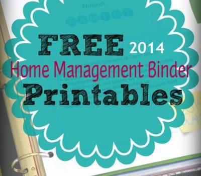 Home Management Binder + Free Printables for 2014