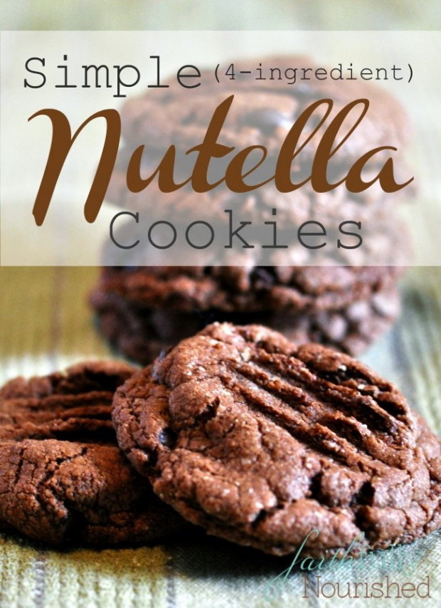 Simple Gluten-Free Nutella Cookies