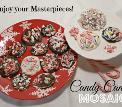 Candy Cane Mosaic:  Edible Art for Kids