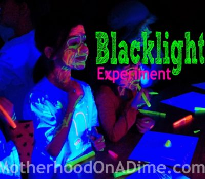 Glowing Play:  Blacklight Party (and Experiment) for Kids
