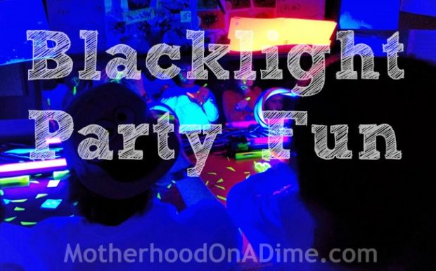 Blacklight party for kids with mirror