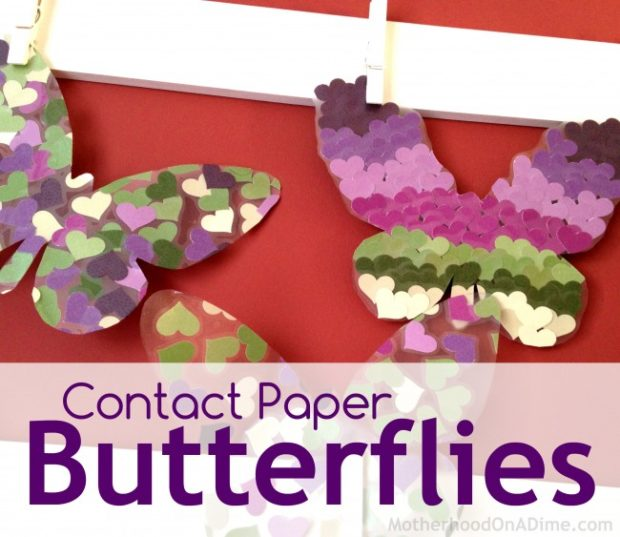Contact Paper Butterfly Craft Kids Activities Saving Money