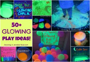 GLOWING Blacklight Play ideas