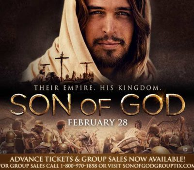 Quick Giveaway:  Son of God Movie Tickets (2 Sets of 2 Tickets)