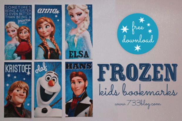 Frozen Kids Bookmarks