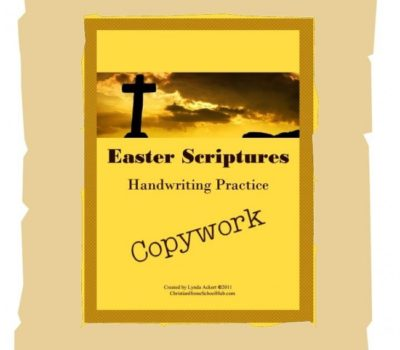 Educents FREEbie:  Easter Scriptures Handwriting Practice