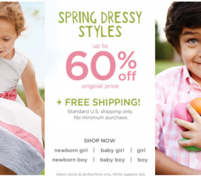 Gymboree:  Up to 60% off Spring Dressy Styles Plus FREE Shipping