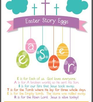 Easter Story Eggs:  New Printable for All Ages