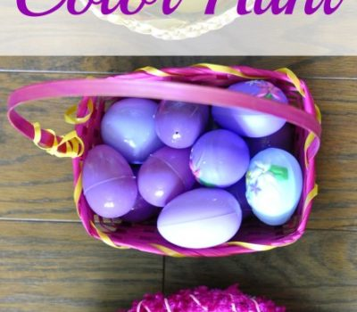 Easter Egg Color Hunt Idea