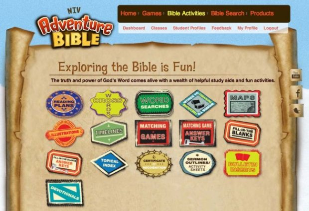 photograph relating to Printable Bible Games Kids named Experience Bible Net: Bible Actions, Video games, and