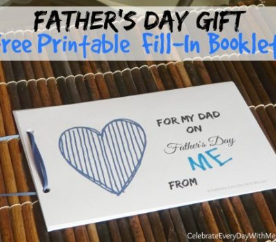 Father's Day Gift:  FREE Printable Fill-In Booklet