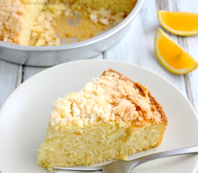 Orange Streusel Coffee Cake