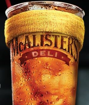 FREE Tea at McAlister's Deli Today