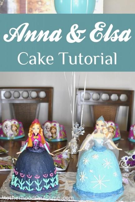 Anna Cake and Elsa Cake