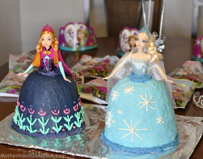 Elsa Cake & Anna Cake