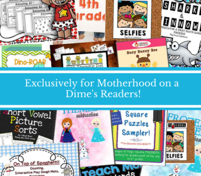 Exclusive Educents Freebie for Motherhood on a Dime Readers through October 22 ($52 Value!!)