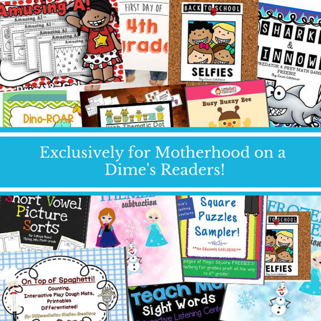 Motherhood on a Dime Educents Freebie