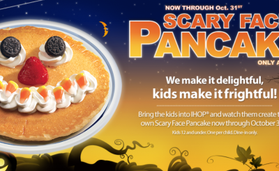 FREE Pancakes at IHOP for Kids (Oct. 31)