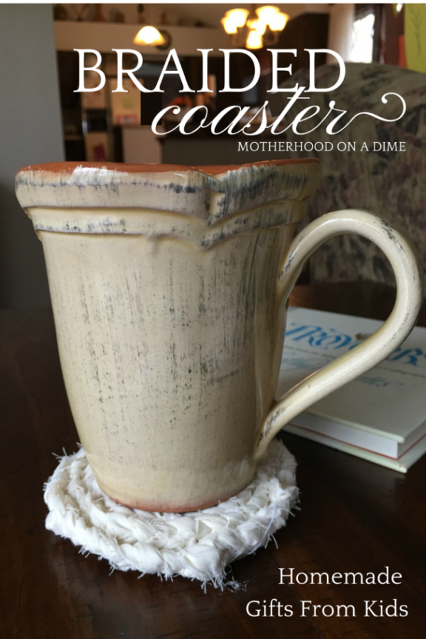 Braided Coaster - Homemade Gifts Kids Can Make (1)