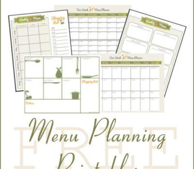 FREE Menu Planning Printables + How I Make a Menu Plan
