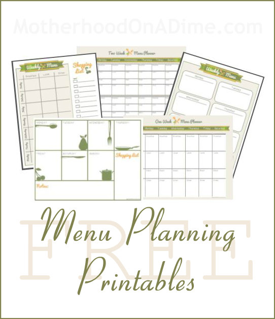 Cute Menu Planning Printables