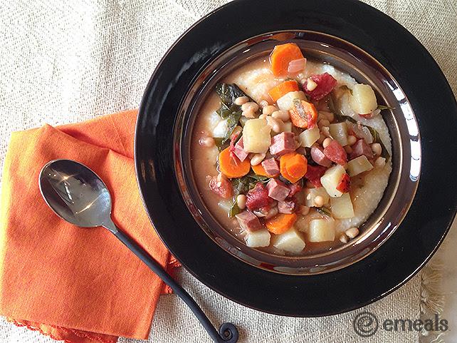 Ham, Kale, Navy Bean Stew