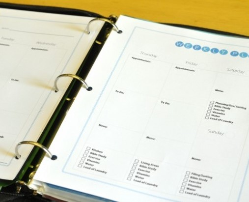 Home Management Binder Calendar