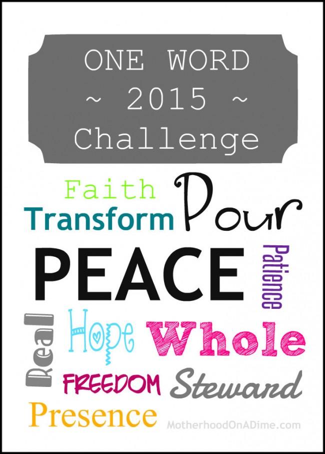 One Word 2015 Challenge