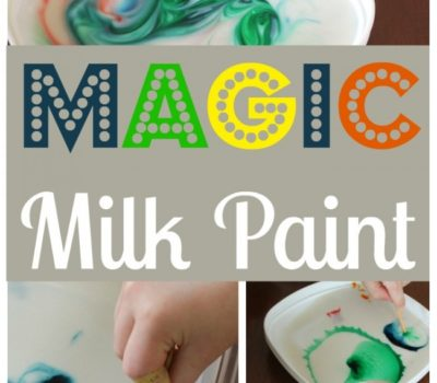 Magic Milk Paint Experiment for Kids