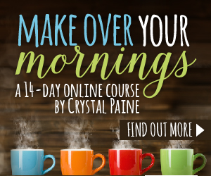 Make Over Your Mornings:  14-Day Course for $9 (1/2 Price)