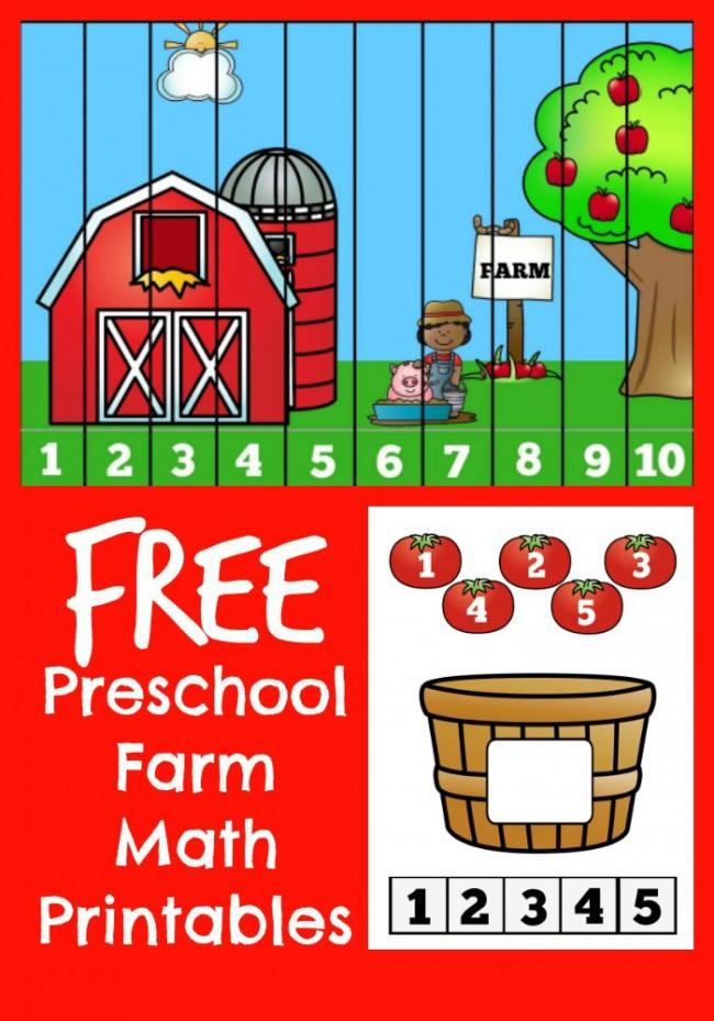 FREE Preschool Farm Printables - Kids Activities Saving Money Home  Management Motherhood On A Dime